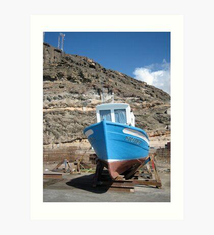 small boat , spain Art Print