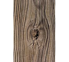 Wood grain texture with knot Photographic Print