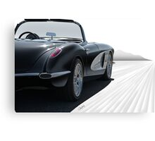 1958 Chevrolet Corvette 'all in perspective' Canvas Print