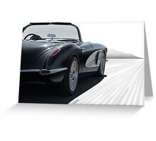 1958 Chevrolet Corvette 'all in perspective' Greeting Card