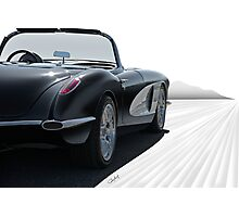 1958 Chevrolet Corvette 'all in perspective' Photographic Print