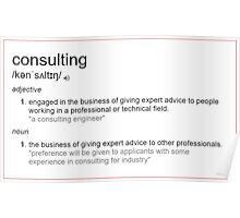 What is meaning of consulting Poster