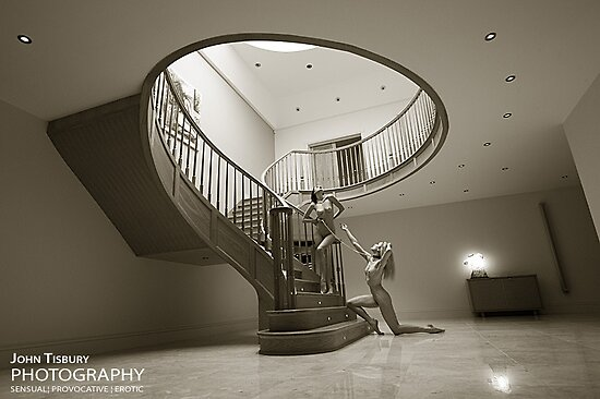 Leading you up the stairs by John Tisbury
