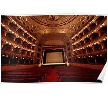 Interno del Teatro Massimo Bellini - Catania Poster