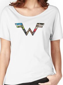 W Dragonfight-cooltexture B&WCarnival of Doooom w/Text Women's Relaxed Fit T-Shirt