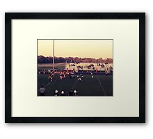 Small Town Football Game Framed Print