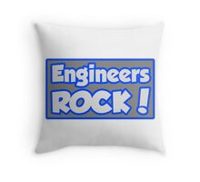 Engineers Rock! Throw Pillow