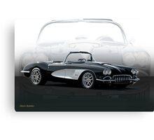 1958 Chevrolet Corvette 'Composite I' Canvas Print