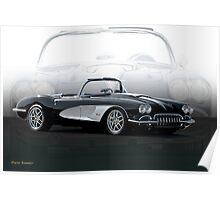 1958 Chevrolet Corvette 'Composite I' Poster