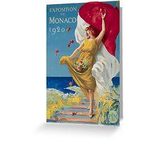 Leonetto Cappiello Affiche PLM Exposition Monaco Greeting Card