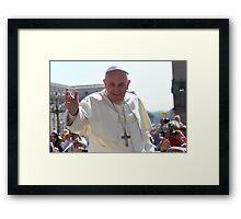 Pope Francis portrait Framed Print