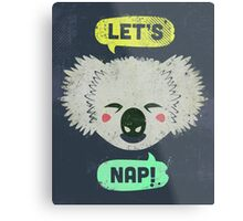 Sleepy Koala  Metal Print