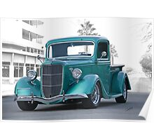 1935 Ford Custom Pickup Poster