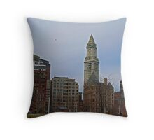 Atlantic Ave - A view of the Custom House Tower Throw Pillow