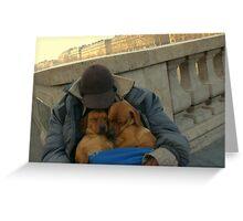 Paris - Just a little nap. Greeting Card