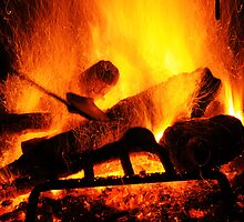 Fireplace Inferno by George Kashouh