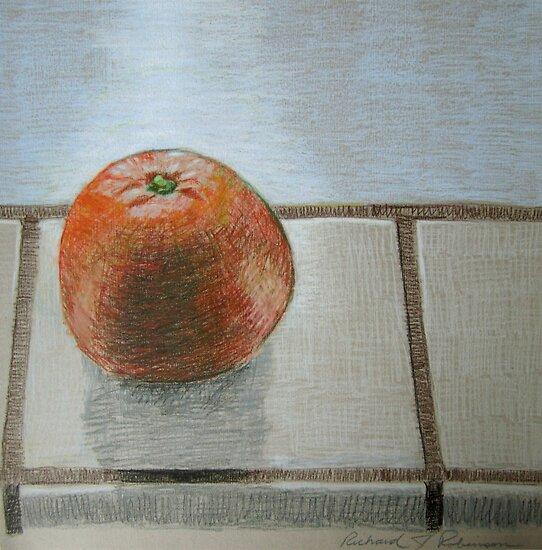 """The lone orange"" by Richard Robinson"