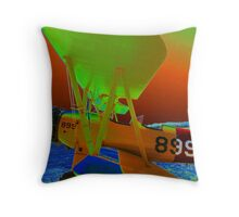 899 Bi Plane Throw Pillow