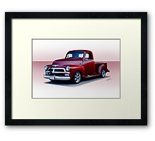 1954 Chevrolet 3100 Custom Pickup Framed Print