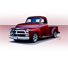 1954 Chevrolet 3100 Custom Pickup Photographic Print