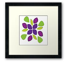 Abstract colorful pedals  Framed Print