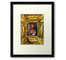 singing doll Framed Print