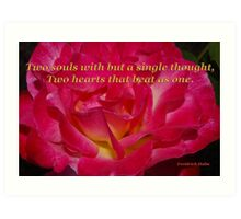 double delight rose halm quote Art Print