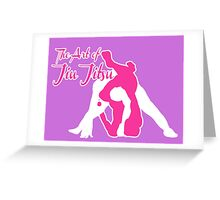 The Art of Jiu Jitsu Rear Triangle Choke Pink  Greeting Card
