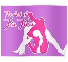 The Art of Jiu Jitsu Rear Triangle Choke Pink  Poster
