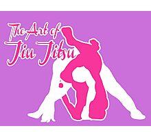 The Art of Jiu Jitsu Rear Triangle Choke Pink  Photographic Print