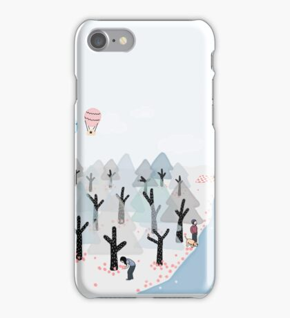 Picnic by the lake iPhone Case/Skin
