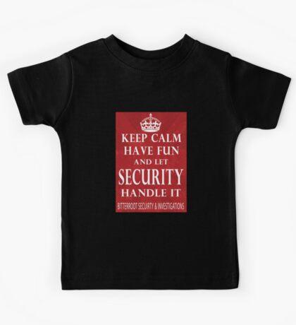 Keep Calm - Security Kids Tee
