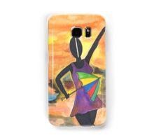 Frevo girl with colorful umbrella 2 Samsung Galaxy Case/Skin