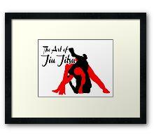 The Art of Jiu Jitsu Rear Triangle Choke  Framed Print