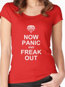 now panic and freak out Women's Fitted Scoop T-Shirt