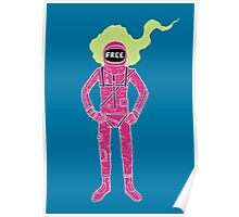 Fire Astronaut Poster