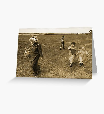 An older time in sepia Greeting Card