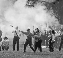 Black powder clouds BW by Larry  Grayam
