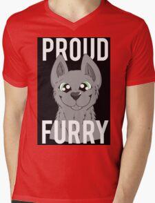 Proud Furry Mens V-Neck T-Shirt