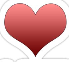 I Heart Sharting Sticker