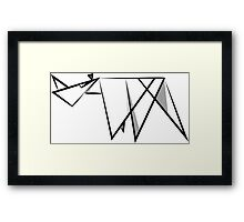 Abstract Rhino Framed Print
