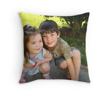 My Two Precious Grandchildren Throw Pillow