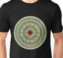 Hand Drawn Green And Red Mandala Unisex T-Shirt