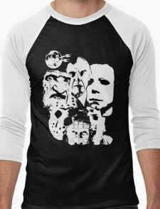 Horror Icons! Men's Baseball ¾ T-Shirt