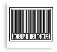 Barcode Engineer Canvas Print