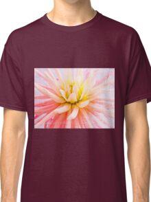 A summer Dahlia flower on wood texture Classic T-Shirt