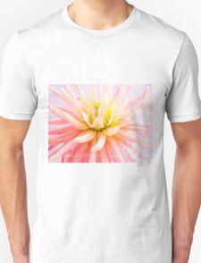 A summer Dahlia flower on wood texture Unisex T-Shirt