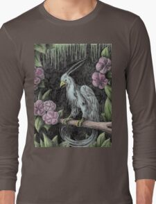 Blue Exotic Bird Long Sleeve T-Shirt