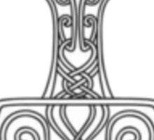 Thor's Hammer Asatru Pride Black and White Design Sticker