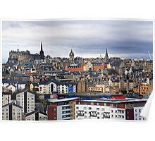 Colourful Edinburgh Poster